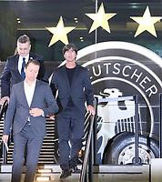 Bundestrainer Joachim Loew (Deutschland Germany) kommt zur Kaderbekanntgabe - 15.05.2018: Vorläufige WM-Kaderbekanntgabe, Deutsches Fußballmuseum Dortmund