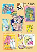 Interlitho, Nino, TEENAGERS, paintings, couple, clothes, phone(KL3905,#J#) Jugendliche, jóvenes, illustrations, pinturas ,everyday