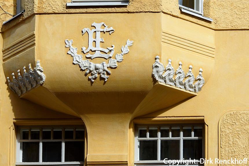 Jugendstil auf der Halbinsel Katajanokka, Helsinki, Finnland