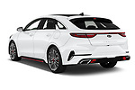 Car pictures of rear three quarter view of 2019 KIA Proceed GT 5 Door Wagon Angular Rear
