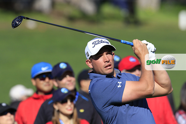 Scott Stallings (USA) tees off the 4th tee at Pebble Beach Golf Links during Sunday's Final Round 4 of the 2017 AT&amp;T Pebble Beach Pro-Am held over 3 courses, Pebble Beach, Spyglass Hill and Monterey Penninsula Country Club, Monterey, California, USA. 12th February 2017.<br /> Picture: Eoin Clarke | Golffile<br /> <br /> <br /> All photos usage must carry mandatory copyright credit (&copy; Golffile | Eoin Clarke)