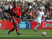 during the Premier League match between Swansea City and Watford at The Liberty Stadium, Swansea, Wales, UK. Saturday 23 September 2017