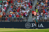 Brooks Koepka (USA) barely misses his birdie attempt on 18 before winning the 100th PGA Championship at Bellerive Country Club, St. Louis, Missouri. 8/12/2018.<br /> Picture: Golffile | Ken Murray<br /> <br /> All photo usage must carry mandatory copyright credit (&copy; Golffile | Ken Murray)