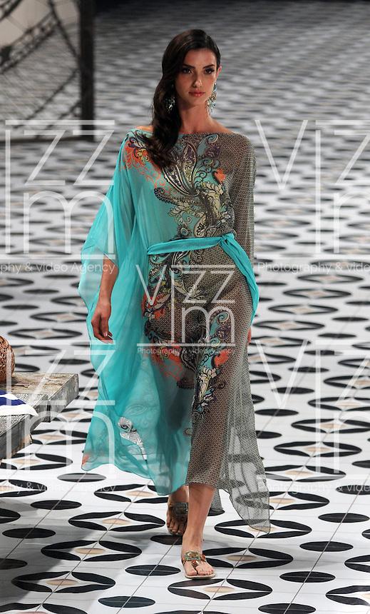 MEDELLIN -COLOMBIA-24-Julio -2014.  Colombia Moda , ,diseños de Onda de Mar ./ Colombia Fashion   catwalk Onda de Mar designer .  Photo:VizzorImage / Luis Rios / Stringer