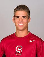 Robert Stineman, with the Stanford Men's Tennis Team. Photo taken on Monday, September 23, 2013.