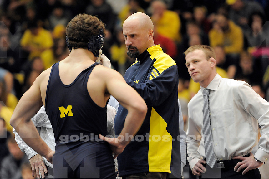 The University of Michigan wrestling team defeats Michigan State University, 26-6, at Cliff Keen Arena in Ann Arbor, Mich., on Jan. 24, 2014.