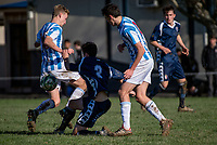 Action from the traditional 1st XI football match between Palmerston North Boys' High School and St Patrick's College Silverstream at PNBHS in Palmerston North, New Zealand on Wednesday, 27 June 2018. Photo: Dave Lintott / lintottphoto.co.nz