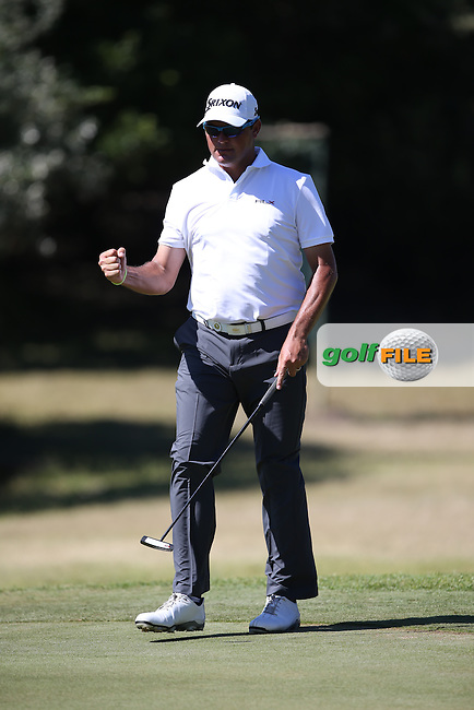 Birdie for Wallie Coetsee (RSA) on the 10th during Round Three of the Africa Open 2015 at the East London Golf Club, East London, Eastern Cape, South Africa. Picture:  David Lloyd / www.golffile.ie. 07/03/2015