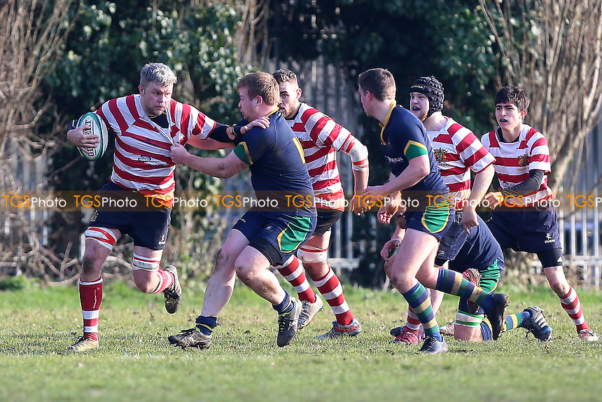 Finchley RFC (red/white) vs Kilburn Cosmos RFC, London 3 North West Division Rugby Union at Summers Lane on 18th February 2017