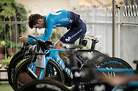 Antonio Pedrero (ESP/Movistar) warming up<br /> <br /> Stage 9 (ITT): Riccione to San Marino (34.7km)<br /> 102nd Giro d'Italia 2019<br /> <br /> ©kramon