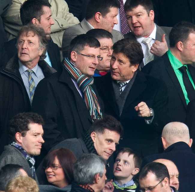 Scotland manager Craig Levein in the stand