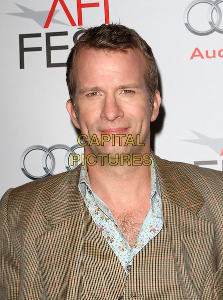 "Thomas Jane.AFI Fest 2011  Premiere Of ""I Melt With You"" Held At the Egyptian Theatre, Hollywood, California, USA.  .November 7th, 2011.headshot portrait brown suit black check blue floral print shirt.CAP/ADM/KB.©Kevan Brooks/AdMedia/Capital Pictures."