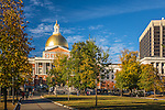 The Massachusetts State House on Boston Common, Boston, Massachusetts, USA