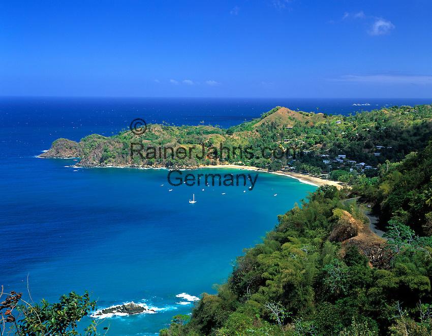 Trinidad & Tobago, Commonwealth, Tobago, Castara Bay: fishing village Castara with beautiful beach