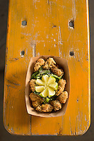 DURHAM, N.C. Monday August 4, 2014 - The oyster salad for order at the new Parts and Labor restaurant at the Motorco Garage Bar in Durham, N.C. (Justin Cook for The New York Times)