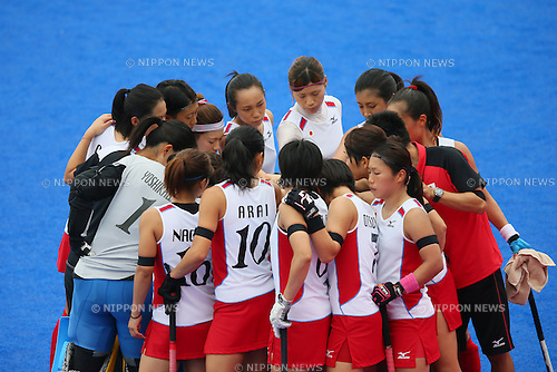 Japan Women's team group (JPN), <br /> SEPTEMBER 26, 2014 - Hockey : <br /> Women's Preliminary <br /> between Kazakhstan Women's 0-8 Japan Women's <br /> at Seonhak Hockey Stadium <br /> during the 2014 Incheon Asian Games in Incheon, South Korea. <br /> (Photo by YUTAKA/AFLO SPORT)