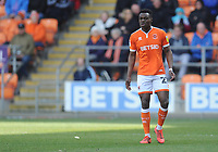 Blackpool's Marc Bola<br /> <br /> Photographer Kevin Barnes/CameraSport<br /> <br /> The EFL Sky Bet League One - Blackpool v Peterborough United - Saturday 13th April 2019 - Bloomfield Road - Blackpool<br /> <br /> World Copyright &copy; 2019 CameraSport. All rights reserved. 43 Linden Ave. Countesthorpe. Leicester. England. LE8 5PG - Tel: +44 (0) 116 277 4147 - admin@camerasport.com - www.camerasport.com