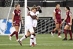 02 December 2011: Stanford's Chioma Ubogagu (9) celebrates her goal with teammate Kristy Zurmuhlen (18). The Stanford University Cardinal defeated the Florida State University Seminoles 3-0 at KSU Soccer Stadium in Kennesaw, Georgia in an NCAA Division I Women's Soccer College Cup semifinal game.