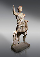 Roman statue of Emperor Trajan. Marble. Perge. 2nd century AD. Inv no . Antalya Archaeology Museum; Turkey.<br /> <br /> Trajan Roma Emperor  from 98 to 117 AD.