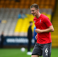 Lincoln City's Scott Wharton during the pre-match warm-up<br /> <br /> Photographer Andrew Vaughan/CameraSport<br /> <br /> The EFL Sky Bet League Two - Port Vale v Lincoln City - Saturday 13th October 2018 - Vale Park - Burslem<br /> <br /> World Copyright © 2018 CameraSport. All rights reserved. 43 Linden Ave. Countesthorpe. Leicester. England. LE8 5PG - Tel: +44 (0) 116 277 4147 - admin@camerasport.com - www.camerasport.com