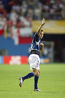 Landon Donovan scores the USA's only goal of the game. The USA lost 3-1 against Poland in the FIFA World Cup 2002 in Korea on June 14, 2002.