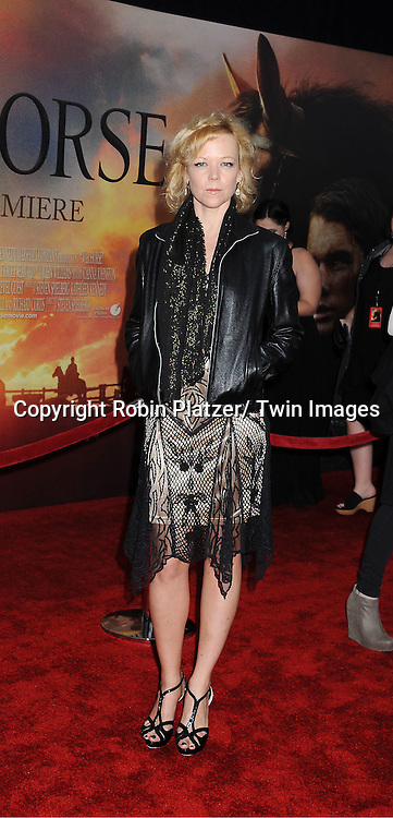 "Emily Bergl attends the world premiere of ""War Horse"" on December 4, 2011 at Avery Fisher Hall in New York City."