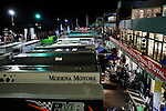 Paddock's ambiance during the night, rain will start one hour after, Sunday, August 3, 2008, in Spa-Francorchamps, Belgium. (Valentin Bianchi/pressphotointl.com)