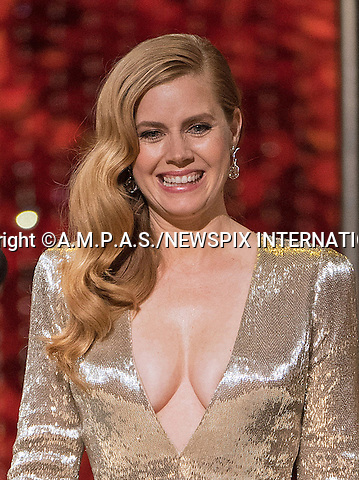 26.02.2017; Hollywood, USA: AMY ADAMS<br /> at The 89th Annual Academy Awards at the Dolby&reg; Theatre in Hollywood.<br /> Mandatory Photo Credit: &copy;AMPAS/NEWSPIX INTERNATIONAL<br /> <br /> IMMEDIATE CONFIRMATION OF USAGE REQUIRED:<br /> Newspix International, 31 Chinnery Hill, Bishop's Stortford, ENGLAND CM23 3PS<br /> Tel:+441279 324672  ; Fax: +441279656877<br /> Mobile:  07775681153<br /> e-mail: info@newspixinternational.co.uk<br /> Usage Implies Acceptance of Our Terms &amp; Conditions<br /> Please refer to usage terms. All Fees Payable To Newspix International