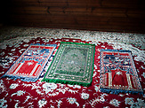 Carpets inside the Mosque in Kruszyniany village. Poland <br /> Kruszyniany village in east Poland where Muslims, Catholics and Orthodox live together. <br /> <br /> Photo: Adam Lach, n-ost, Napo Images