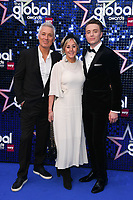 LONDON, UK. March 07, 2019: Martin & Shirley Kemp with son, Roman arriving for the Global Awards 2019 at the Hammersmith Apollo, London.<br /> Picture: Steve Vas/Featureflash