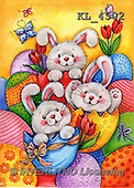 Interlitho-Theresa, EASTER, OSTERN, PASCUA, paintings+++++,3 easter rabbits,KL4502,#E#