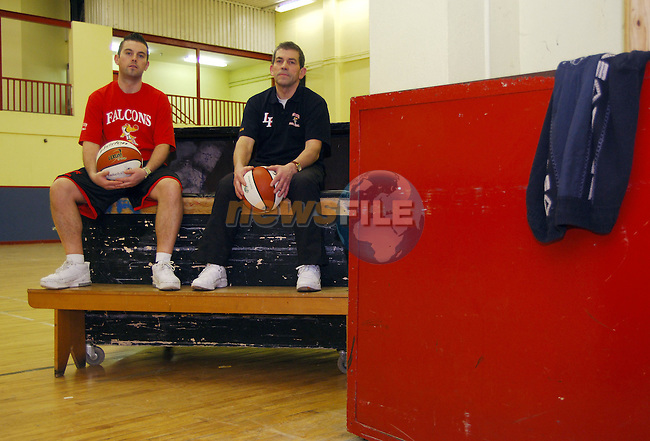 20-01-06 - Basketball feature for Examiner - Longford Falcons team members photographed at the Mall Complex, Longford..Michael Murphy Snr. and Jnr. at the above..Photo NEWSFILE/Barry Cronin..(Photo credit should read Barry Cronin/NEWSFILE)...This Picture has been sent you under the condtions enclosed by:.Newsfile Ltd..the Studio,.Millmount Abbey,.Drogheda,.Co Meath..Ireland..Tel: +353(0)41-9871240.Fax: +353(0)41-9871260.GSM: +353(0)86-2500958.email: pictures@newsfile.ie.www.newsfile.ie.FTP: 193.120.102.198..This picture is from Fran Caffrey@newsfile.ie