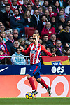 Antoine Griezmann of Atletico de Madrid in action during the La Liga 2017-18 match between Atletico de Madrid and UD Las Palmas at Wanda Metropolitano on January 28 2018 in Madrid, Spain. Photo by Diego Souto / Power Sport Images