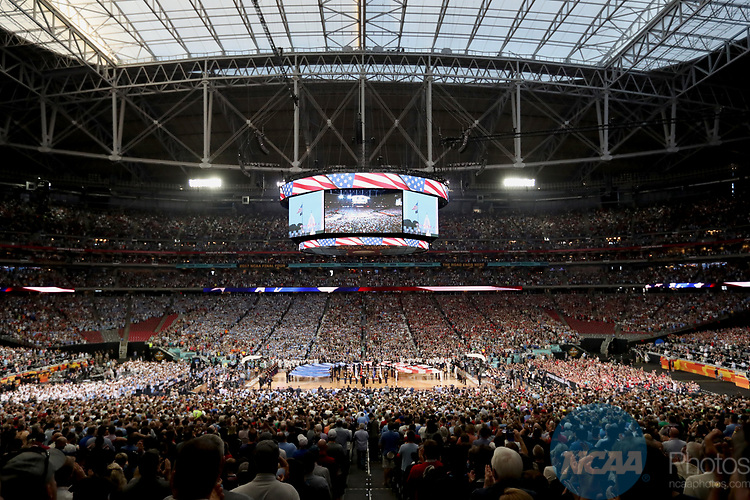GLENDALE, AZ - APRIL 03: General view of the stadium prior to tip-off of North Carolina Tar Heels against the Gonzaga Bulldogs during the 2017 NCAA Men's Final Four National Championship game at University of Phoenix Stadium on April 3, 2017 in Glendale, Arizona.  (Photo by Matt Marriott/NCAA Photos via Getty Images)