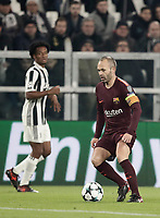 Football Soccer: UEFA Champions League Juventus vs FC Barcelona Allianz Stadium. Turin, Italy, November 22, 2017. <br /> FC Barcelona's captain Andrés Iniesta in action during the Uefa Champions League football soccer match between Juventus and FC Barcelona at Allianz Stadium in Turin, November 22, 2017.<br /> UPDATE IMAGES PRESS/Isabella Bonotto