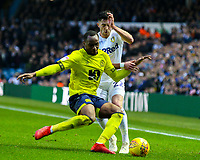 Leeds United's Jack Harrison is tackled by Blackburn Rovers' Ryan Nyambe<br /> <br /> Photographer Alex Dodd/CameraSport<br /> <br /> The EFL Sky Bet Championship - Leeds United v Blackburn Rovers - Wednesday 26th December 2018 - Elland Road - Leeds<br /> <br /> World Copyright &copy; 2018 CameraSport. All rights reserved. 43 Linden Ave. Countesthorpe. Leicester. England. LE8 5PG - Tel: +44 (0) 116 277 4147 - admin@camerasport.com - www.camerasport.com