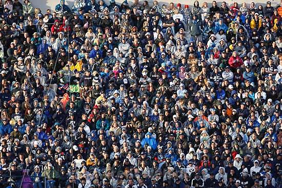 fans. BYU vs. TCU college football Saturday, October 24 2009 in Provo.