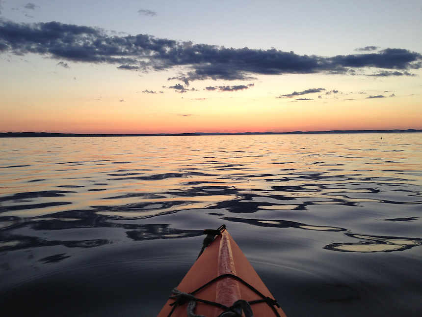 Kayaking at Dusk, Castine, Maine, US