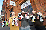 Tiny Rebel Brewery Urban Tap House<br /> Cardiff<br /> <br /> Connor Cupples, Chris Rowland's &amp; James Easterbrook<br /> <br /> 20.09.13<br /> <br /> &copy;Steve Pope-FOTOWALES