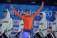 SCHAATSEN: AMSTERDAM: Olympisch Stadion, 10-03-2018, WK Allround, Coolste Baan van Nederland, Podium 5000m Ladies, Annouk van der Weijden (NED), ©foto Martin de Jong
