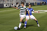 09 December 2011: UNCC's Thomas Allen (5) and Creighton's Ethan Finlay (16). The Creighton University Bluejays played the University of North Carolina Charlotte 49ers to a 0-0 overtime tie, the 49ers won the penalty shootout 4-1 to advance at Regions Park in Hoover, Alabama in an NCAA Division I Men's Soccer College Cup semifinal game.