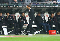 Trainer Markus Weinzierl (VfB Stuttgart) enttäuschter Abgang - 31.03.2019: Eintracht Frankfurt vs. VfB Stuttgart, Commerzbank Arena, DISCLAIMER: DFL regulations prohibit any use of photographs as image sequences and/or quasi-video.