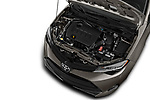 Car stock 2017 Toyota Corolla XLE Premium 4 Door Sedan engine high angle detail view