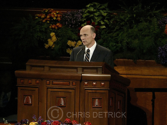Salt Lake City, Utah --10/1/2005--..Elder Scott Grow delivers his speech during the LDS Church General Conference held at the Conference Center. ...Chris Detrick/The Salt Lake Tribune.File #816G0332