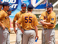GREEN BAY - June 2015: Kenosha Kingfish players during a Northwoods League game against the Green Bay Bullfrogs on June 21st, 2015 at Joannes Park in Green Bay, Wisconsin. Green Bay defeated Kenosha 10-7. (Brad Krause/Krause Sports Photography)