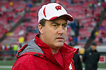 Wisconsin Badgers Offensive Coordinator Paul Chryst looks on prior to an NCAA Big Ten Conference college football game against the Penn State Nittany Lions on November 26, 2011 in Madison, Wisconsin. The Badgers won 45-7. (Photo by David Stluka)