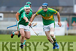 David Goulding Ballyduff in action against Michael Conway Lixnaw in the Senior County Hurling Final in Austin Stack Park on Sunday