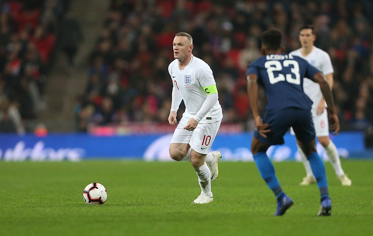 England's Wayne Rooney<br /> <br /> Photographer Rob Newell/CameraSport<br /> <br /> The Wayne Rooney Foundation International - England v United States - Thursday 15th November 2018 - Wembley Stadium - London<br /> <br /> World Copyright © 2018 CameraSport. All rights reserved. 43 Linden Ave. Countesthorpe. Leicester. England. LE8 5PG - Tel: +44 (0) 116 277 4147 - admin@camerasport.com - www.camerasport.com