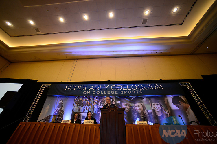 15 JAN 2013: The Scholarly Colloquium on College Sports during the 2013 NCAA Convention held at the Gaylord Texan in Grapevine, TX. Stephen Nowland/NCAA Photos