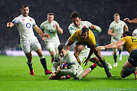 Jonny May of England scores a try in the second half. Old Mutual Wealth Series International match between England and Australia on November 18, 2017 at Twickenham Stadium in London, England. Photo by: Patrick Khachfe / Onside Images